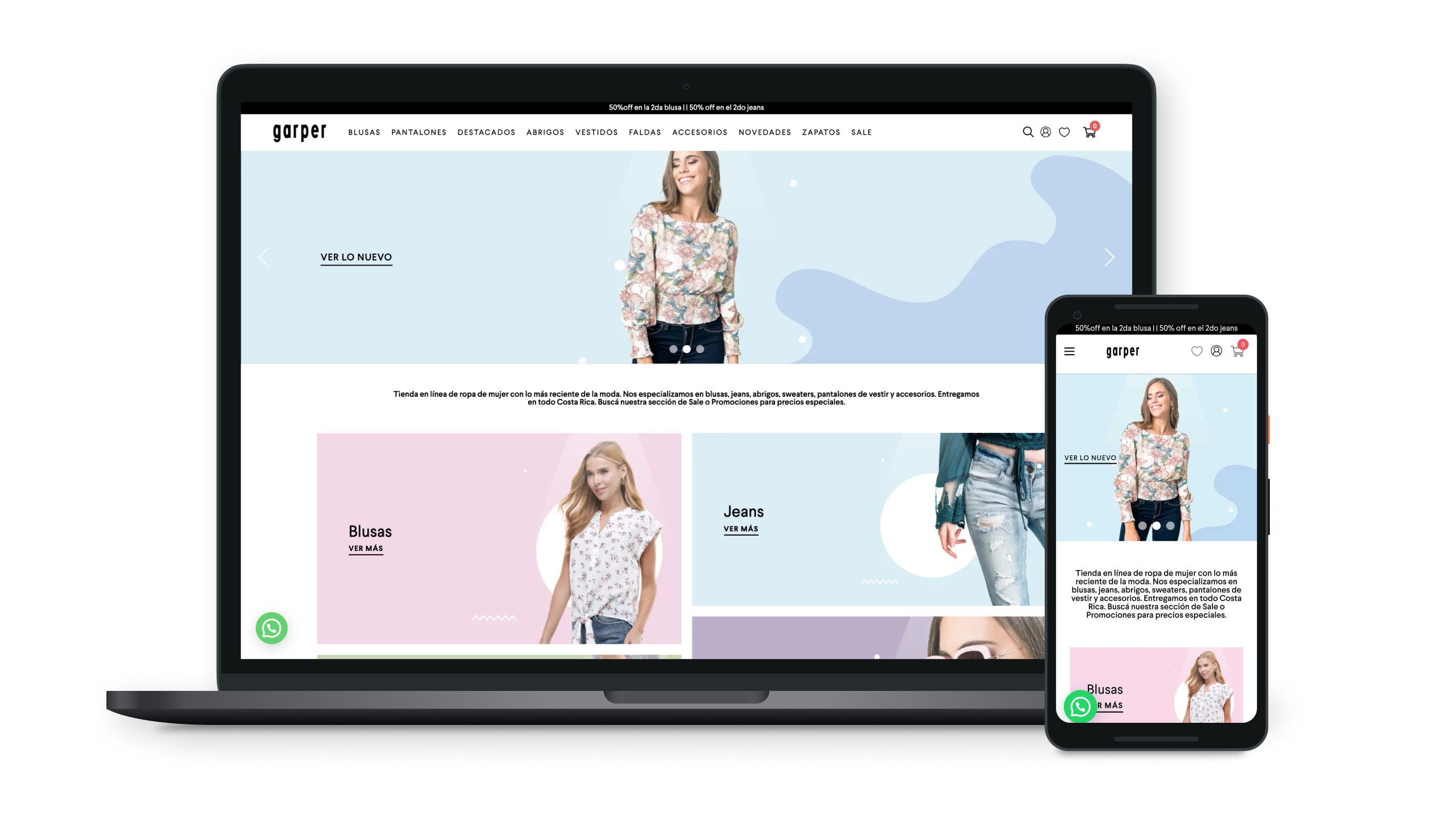 Ecommerce Fashion website