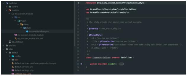 custom serializer code example