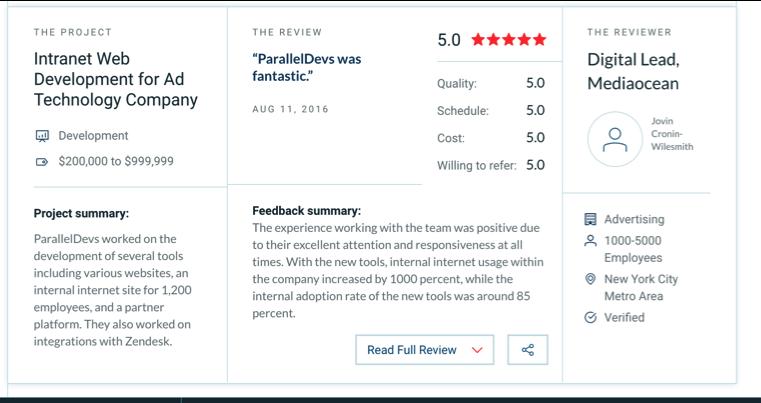Clutch.co reviews
